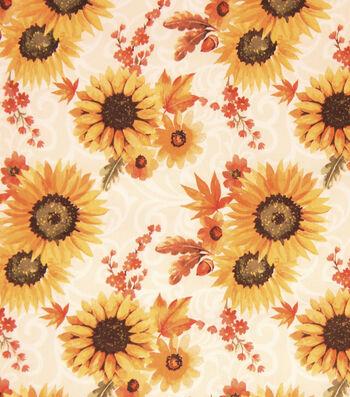 """Shimmer Sparkle Glitter 54/"""" Rust//Dark Orange Floral Metallic Design Fabric"""