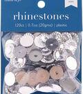 hildie & jo 120 pk 0.7 oz. Plastic Crystal Flat Back Rhinestones