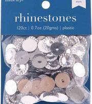 hildie & jo 120 pk 0.7 oz. Plastic Crystal Flat Back Rhinestones, , hi-res