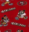 San Fancisco 49ers Fleece Fabric-Mickey