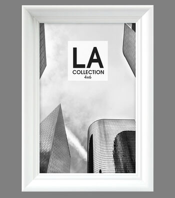 LA Collection Traditional Tabletop Frame 4x6-White