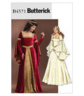Butterick Pattern B4571-Floor-Length Dress with Flared Sleeves