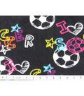 Anti-Pill Fleece Fabric 59\u0022-Bright Soccer