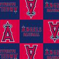 Los Angeles Angels Fleece Fabric -Block