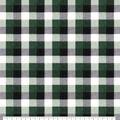Super Snuggle Flannel Fabric-Green & Black Buffalo Check