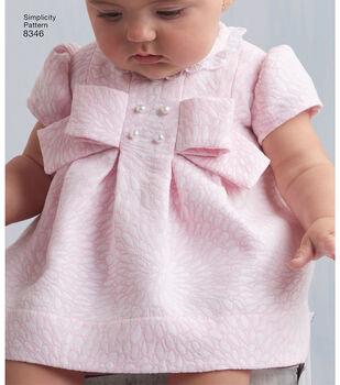 Simplicity Pattern 8346 Babies' Dress & Panties-Size A (XXS-XS-S-M-L)