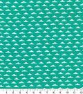 Quilter\u0027s Showcase Fabric 44\u0027\u0027-Triangle Geometric on Pool Green