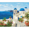 Santorini Counted Cross Stitch Kit 14 Count