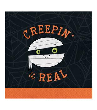Maker's Halloween 20 pk Lunch Napkins-Mummy & Creepin' It Real