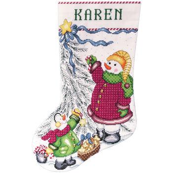 Tobin Counted Cross Stitch Kit Trim A Tree Snowman