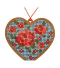 Cross Stitch Style Wood Laser Cut For Cross Stitch-Heart