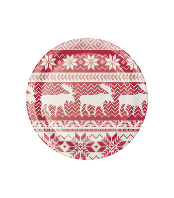 Maker's Holiday Christmas 8 pk 7'' Paper Lunch Plates-Moose