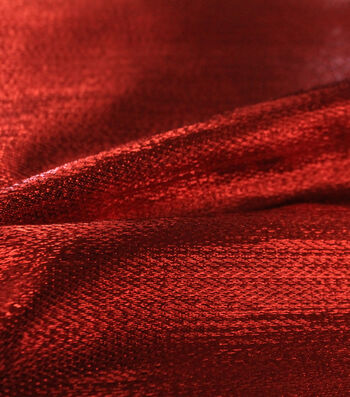 Metallic Apparel Lame Fabric 44''-Shiny Red