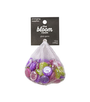Bloom Room 12 oz. Glass Gems-Pink, Green & Purple