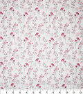 Premium Cotton Fabric-Camila Flowers on Cream