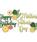Sizzix Thinlits Jen Long 10 pk Dies-Phrases, Happy & Pineapple