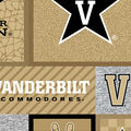 Vanderbilt University Commodores Fleece Fabric-College Patch