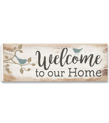 Hello Spring Wood Plank Wall Decor-Welcome to our Home