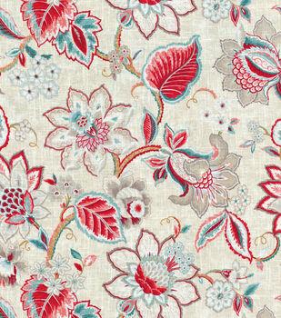 "Waverly Multi-Purpose Decor Fabric 54""-Floral Fresh Strawberry"