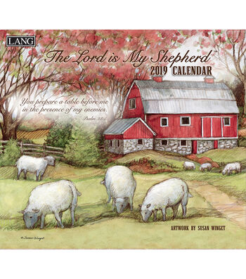2019 Wall Calendar Lord Is My Shepherd
