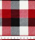 Specialty Luxe Fleece Fabric 59\u0022-Red & Cream Buffalo Check