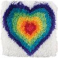 Shaggy Latch Hook Kit 12\u0022X12\u0022-From The Heart