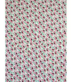 Doodles Juvenile Apparel Fabric 57''-Pink Ditsy Flowers Interlock