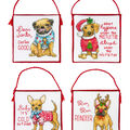Dimensions Counted Cross Stitch Kit-Christmas Pups Ornaments (14 Count)