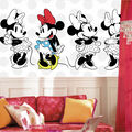 York Wallcoverings Pre Pasted Mural-Minnie Rocks the Dots