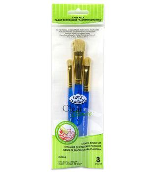 Royal & Langnickel Filbert Stencil Brush Set 3pk