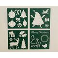 Handmade Holiday Craft Christmas 4 pk 6\u0027\u0027x6\u0027\u0027 Cardstock Stencils-Holiday