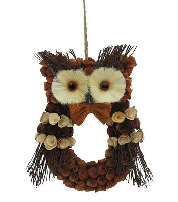 Blooming Autumn Large Wood Curl Owl