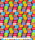 Novelty Cotton Fabric -Multi Macaroons