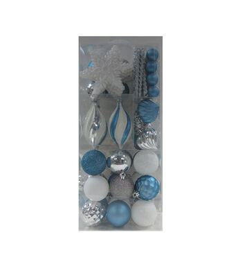 Maker's Holiday Christmas Arctic Frost Boxed Ornaments