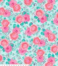 No Sew Fleece Throw 72\u0027\u0027-Floral & Swirls