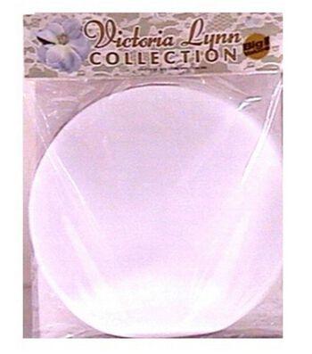 "Victoria Lynn Tulle Circles 10"" 100/Pkg-White"