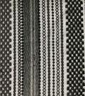 Lace Knit Fabric 56\u0022-Black & Black Stripe