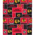 Chicago Blackhawks Cotton Fabric -Block