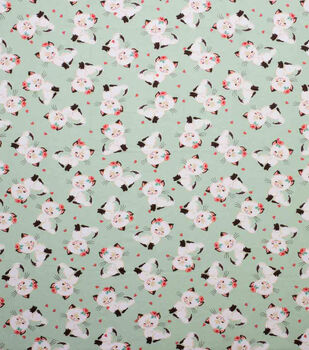 Super Snuggle Flannel Fabric-Feminine Kitty