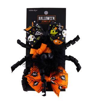 hildie & jo Halloween Jewelry 2 pk Hair Clips-Ghosts