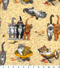 Novelty Cotton Fabric -Kittens At The Beach