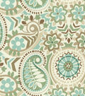 Waverly Upholstery Fabric 55\u0022--Paisley Prism Latte