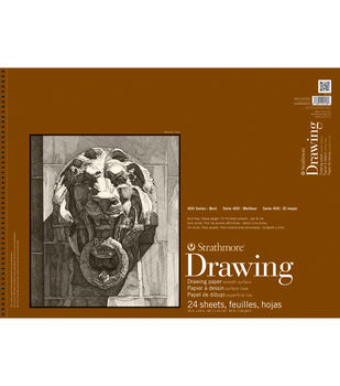 """Strathmore Smooth Surface Drawing Paper Pad 18""""X24""""-80lb 24 Sheets"""