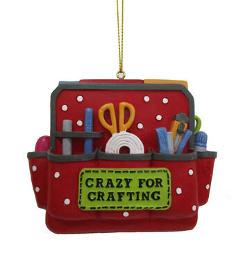 Maker's Holiday Christmas Crafters Ornament-Crazy for Crafting