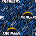 Los Angeles Chargers Fleece Fabric -Logo