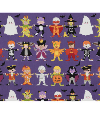 """Halloween Cotton Fabric 45""""-You + Me=Scary!"""