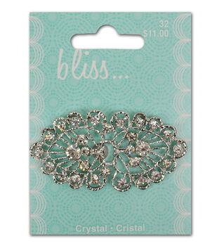 Bliss Crystal Fan Buckle