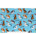 Snuggle Flannel Fabric -Energetic Pups