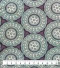 Luxe Fleece Fabric-Blue White Small Circle Geo