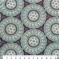 Luxe Fleece Fabric-Blue & White Small Circle Geometrics